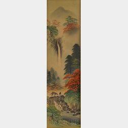 Framed Landscape Print on Silk