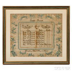 Needlework Heywood Family Record