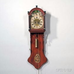 Mahogany Freisland Wall Clock with Automata
