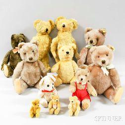 Twelve Plush Bears