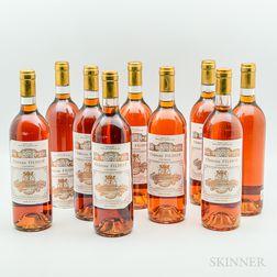 Chateau Filhot Creme de Tete 1990, 9 bottles