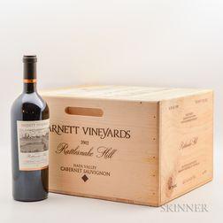 Barnett Vineyards Cabernet Sauvignon Rattlesnake Hill 2002, 6 bottles (owc)