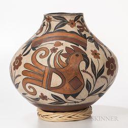 Large Southwest Polychrome Pottery Olla