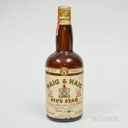 Haig & Haig 8 Years Old, 1 4/5 quart bottle