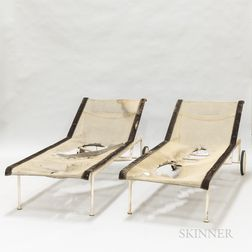 Two Richard Schultz for Knoll Studios Chaise Lounges