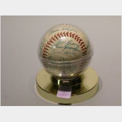 1953 Ted Williams Autographed Baseball.