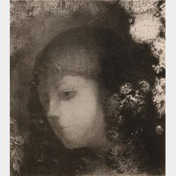 Odilon Redon (French, 1840-1916)      Tête d'enfant avec fleurs
