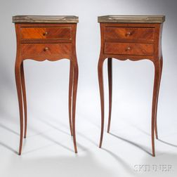 Pair of Louis XV-style Table en Chiffoniere