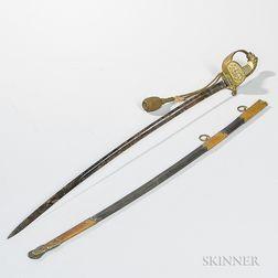 Pattern 1889 German Navy Officer's Sword