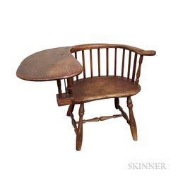 Barrel-back Writing-arm Windsor Chair