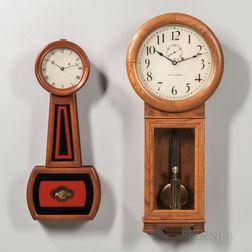 Seth Thomas No. 2 and a Howard No. 5 Wall Clocks