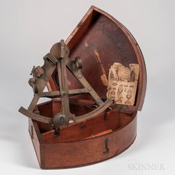 E. Smith Double-frame Lacquered Brass Sextant