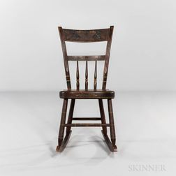 Small Painted Windsor Rocking Chair