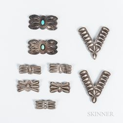 Nine Navajo Silver Ornaments