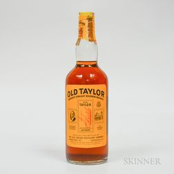 Old Taylor 4 Years Old, 1 4/5 quart bottle