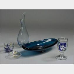 Five Contemporary Glass Pieces