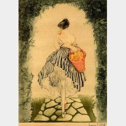 Louis Icart (French, 1888-1950)    Panier de Pommes