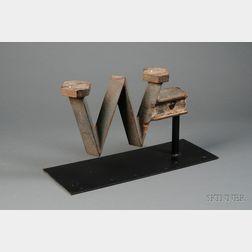 "Cast-Iron ""W"" Windmill Weight"