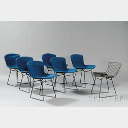 Eight Bertoia Chairs