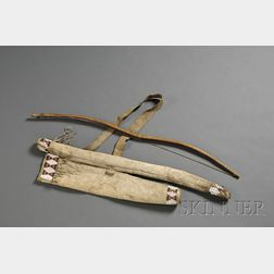 Central Plains Beaded Hide Bow Case and Quiver