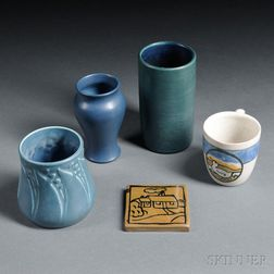 Five Pieces of American Art Pottery