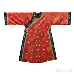 Woman's Silk Embroidered Informal Robe