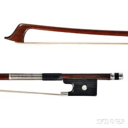 French Silver-mounted Violoncello Bow, J.B. Vuillaume, c. 1850