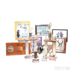 Little Jimmy Dickens     Eight Fishing and Hunting Trophies and Plaques