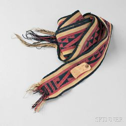 Zuni Woven Yarn Sash