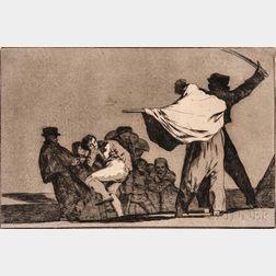 Francisco de Goya (Spanish, 1746-1828)      Disparate Conocido (Que Guerraro)