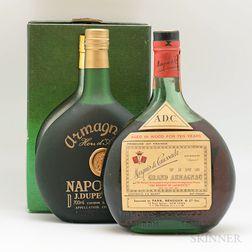 Mixed Armagnac, 1 4/5 quart bottle 1 70cl bottle (oc)