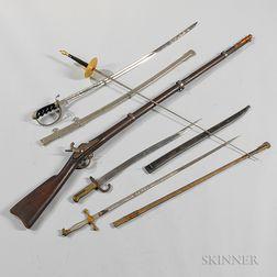 Three Swords, a Bayonet, and a Gunstock