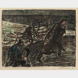 Ernst Barlach (German, 1870-1938)      Three Lithographs from Der Arme Vetter