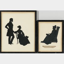 Two Auguste Edouart Silhouettes of Members of the Richardson and Parmly Families