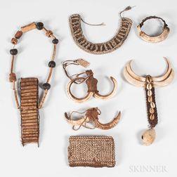 Seven New Guinea Jewelry Items