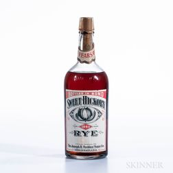 Sweet Hickory Rye 8 Years Old 1908, 1 quart bottle