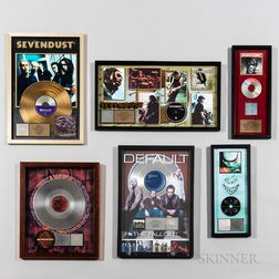 Six RIAA Certified Gold and Platinum Record Sales Awards