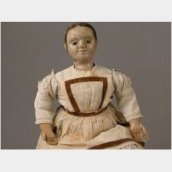 Large Early Izannah Walker Cloth Doll