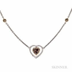 18kt Bicolor Gold and Diamond Pendant/Necklace
