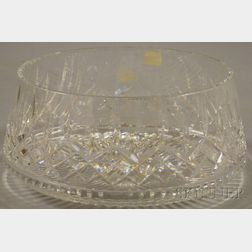 Large Waterford Colorless Cut Crystal Center Bowl