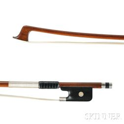 French Silver-mounted Viola Bow