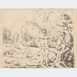 Paul Cézanne (French, 1839-1906)      Les Baigneurs (grande planche)