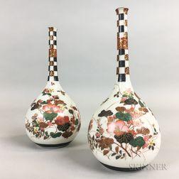 Pair of Enameled Vases