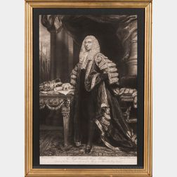"Mezzotint Portrait ""The Right Honorable Henry Addington,"""