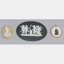Three Wedgwood Jasper Dip Medallions