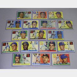 Seventeen 1955 Topps Baseball Cards