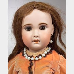 Large SFBJ Bisque Head Girl Doll