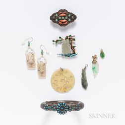 Group of Chinese Hardstone Jewelry