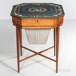 Classical Decorated Sewing Table