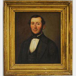 American School, 19th Century      Portrait of a Man.